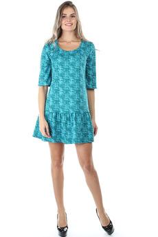 Короткое бирюзовое платье Bast со скидкой