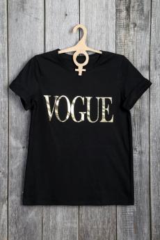 Черная футболка VOGUE Милана