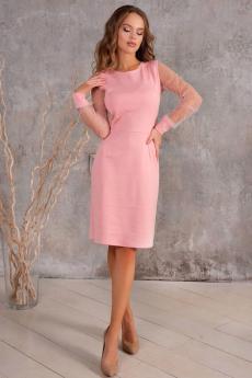 Розовое котельное платье со стразами Open Style
